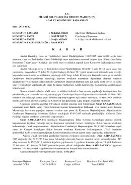 (CİK KATİP)Aday Tespit Listesi 18.03.2015