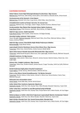 elektronik posterler - XV. Türk Kolon ve Rektum Cerrahisi Kongresi