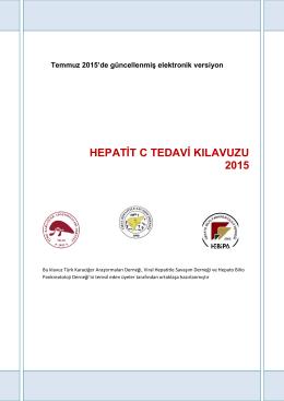 HEPATİT C TEDAVİ KILAVUZU - Viral Hepatitle Savaşım Derneği