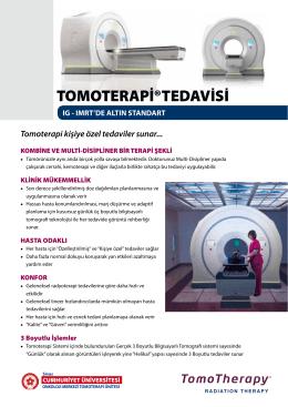 TOMOTERAPİ®TEDAVİSİ - sivas cumhuriyet üniversitesi tıp fakültesi