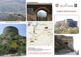 harun reşit kalesi.indd - Osmaniye İl Kültür ve Turizm Müdürlüğü