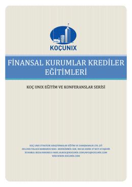 koc unıx finansal kurumlar krediler eğitim tanıtımı