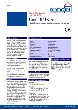 Rem HP Folie