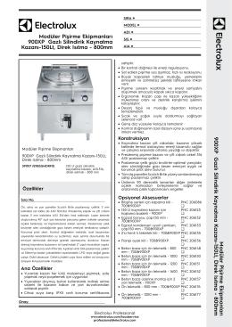 900XP Gazlı Silindirik Kaynatma Kazanı-150Lt, Direk