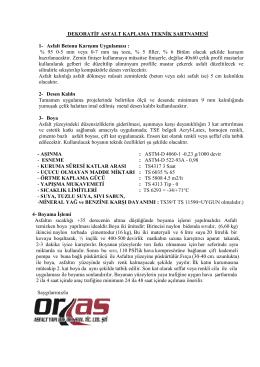 StreetPrint DEKORATİF ASFALT KAPLAMA TEKNİK