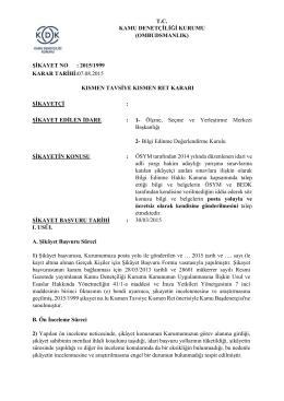 ÖSYM Tarafından Düzenlenen İdari ve Adli Yargı Hakim Adaylığı