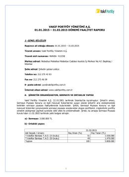 FAALİYET RAPORU 31032015