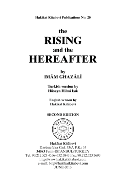 RISING HEREAFTER - Hakikat Kitabevi