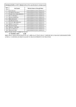 1 2 3 4 5 6 7 8 9 sınav başlangıç tarihi ve saati 21 temmuz 2015 14