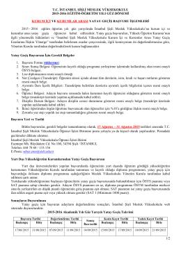 1/2 tc istanbul şişli meslek yüksekokulu 2015-2016 eğitim