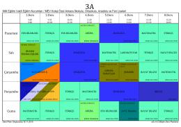 2015-2016 3.sınıflar ders programı