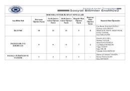 sosyal bilimler enstitüsü 2015 haziran ayı doktora yeterlik sınav