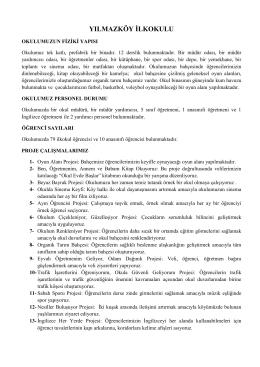Yılmazköy İlkokulu Tanıtım