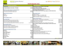 ORTAK Seminer Merkezi PRATİK BİLGİLER /2015