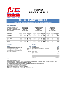 ILAC Prices 2016 - TURKEY