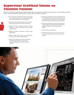 Supervisor Grafiksel İzleme ve Yönetim Yazılımı