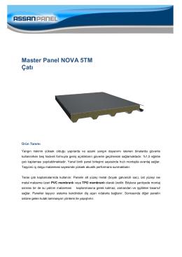 Master Panel NOVA 5TM Çatı