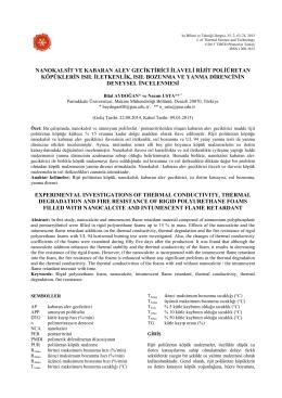 nanokalsit ve kabaran alev geciktirici ilaveli rijit poliüretan