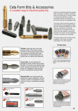 Ceta Form Bits & Accessories