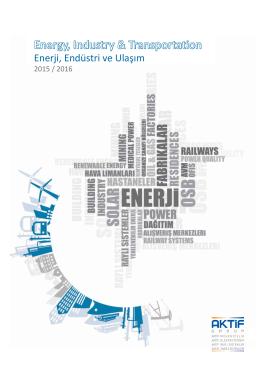 Enerji, Endüstri ve Ulaşım Kataloğu