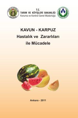 KAVUN - KARPUZ Hastalık ve Zararlıları