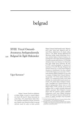 belgrad - Yeni Türkiye