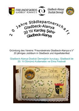 Broschüre Festakt 2013 in Gladbeck