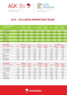 agk - uçü fiyat listesi