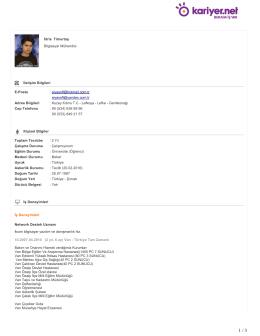 İdris Timurtaş Bilgisayar Mühendisi İletişim Bilgileri E