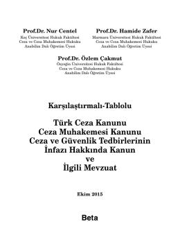 Türk Ceza Kanunu Ceza Muhakemesi Kanunu Ceza ve Güvenlik
