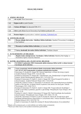 Özgeçmiş - Bülent Ecevit Üniversitesi Sağlık Uygulama ve Araştırma