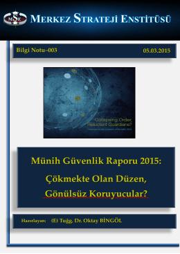 Münih Güvenlik Raporu 2015 - Merkez Strateji Enstitisü