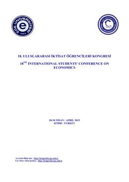 18. uluslararası iktisat öğrencileri kongresi 18