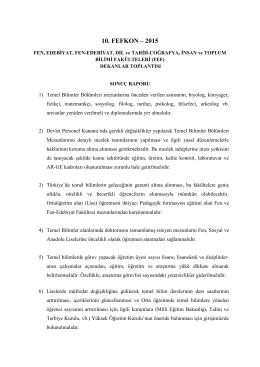10.Fefkon Sonuç Raporu (2014) - 10.fefkon-2015