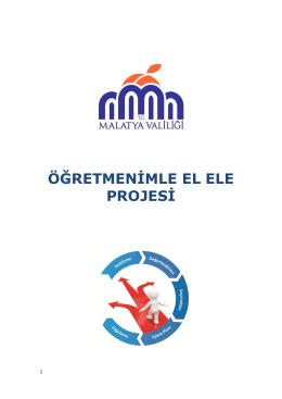 ÖĞRETMENİMLE EL ELE PROJESİ - Malatya Milli Eğitim Müdürlüğü