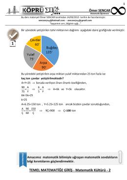 TEMEL MATEMATİĞE GİRİŞ - Matematik Kültürü - 2