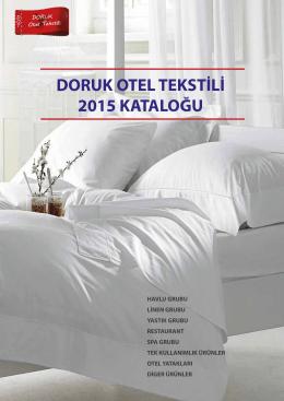 Doruk Otel Tekstili 2015 Katalog