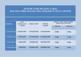 Umre Otel Fiyatlari - İsviçre Türk Diyanet Vakfı