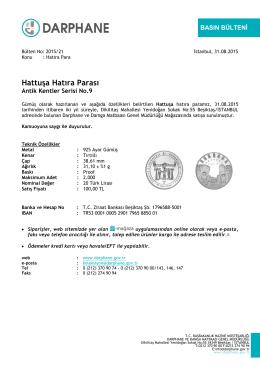 Hattuşa Hatıra Parası - Darphane ve Damga Matbaası Genel