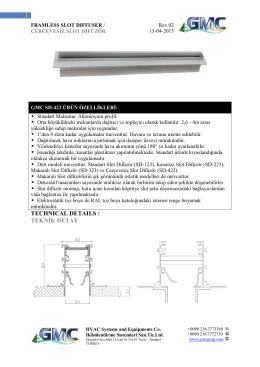 technıcal detaıls / teknik detay