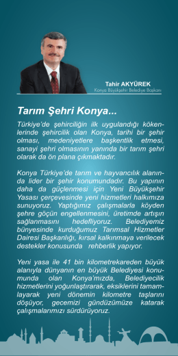 Tarım Şehri Konya... - Konya Büyükşehir Belediyesi
