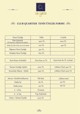 CQ tenis fiyat - Club Quartier