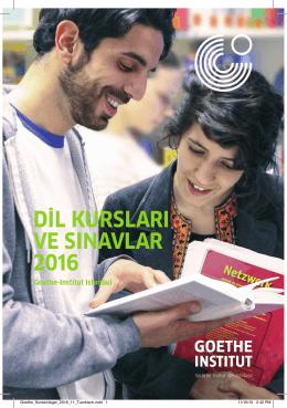 dil kursları ve sınavlar 2016 - Goethe