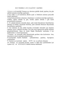 yayın 2015-15 temmuz ayı faaliyet raporu