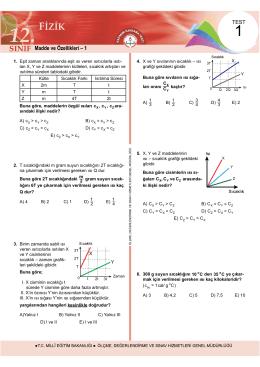12. Sınıf Fizik Test 1 İndir
