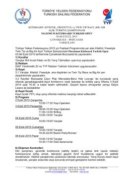 türkiye yelken federasyonu turkısh saılıng federatıon