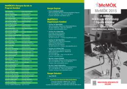 MeMÖK 2015 - Mekatronik Mühendisliği