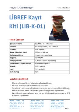 LİBREF Kayıt Kiti (LIB-K-01)