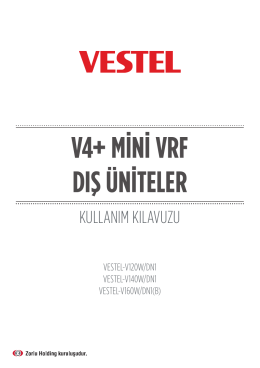 V4 plus K mini vrf dış üniteler - Kullanım Kılavuzu