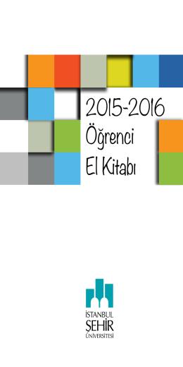 2015-2016 Öğrenci El Kitabı - İstanbul Şehir Üniversitesi